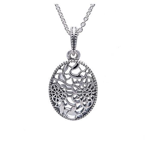 Pandora Necklace Flower Pendant 390383–60