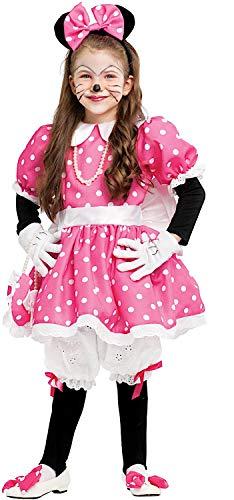 Costume di carnevale da topoletta lusso baby vestito per bambina ragazza 1-6 anni travestimento veneziano halloween cosplay festa party 53157 taglia 4