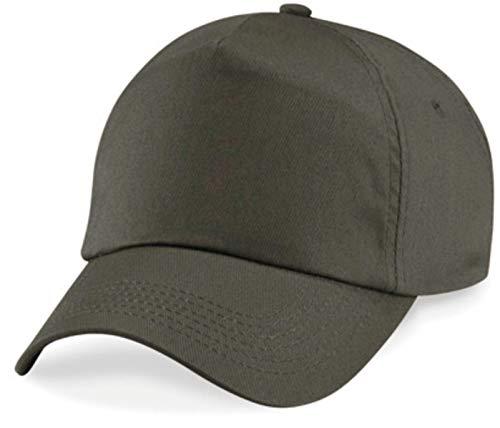 Shirtinstyle Basecap Cap 5 Panel Cap Verschluss Klettverschluss Größe Unisex, Farbe olive Golf Cap-5-panel-caps