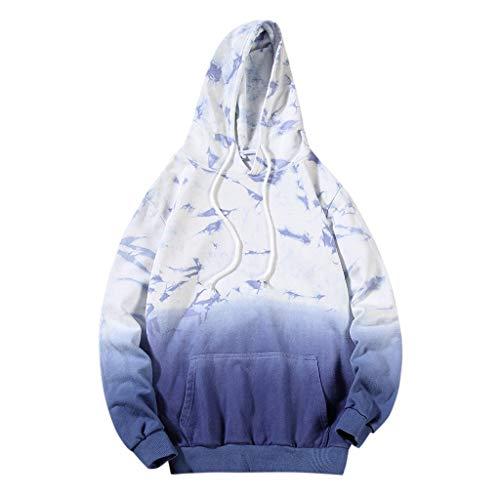 Unisex Kapuzenpullover/Hoodie/Kapuzensweater Herren Farbverlauf Hoodies Langarm Gummiband Weich Pullover Sweatshirts -