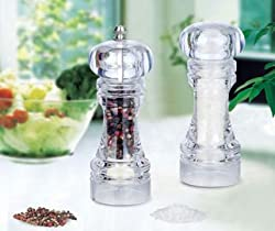 Acrylic Pepper Grinder Salt Spices Mill Shaker Transparent Grinding Tool Milling Cutter Machine by Celebration