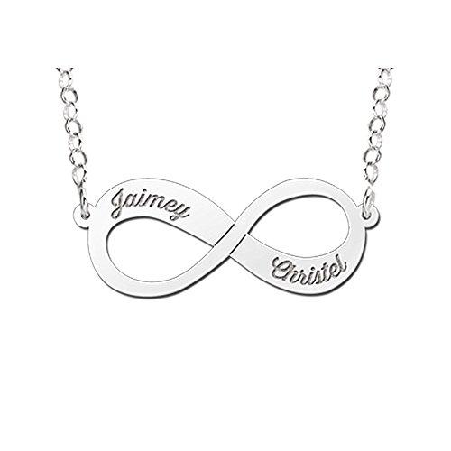 Namesforever-Infinity-Unendlichkeit-Namenskette-mit-2-Namen-als-Gravur-aus-Silber