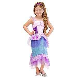 WIDMANN - Disfraz de Sirena y Poseidón para niños, multicolor, 116 cm/4 - 5 años, 2165