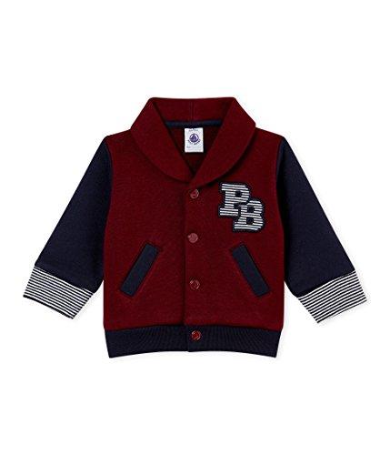 Petit Bateau Baby-Jungen Cardigan_4430701 Strickjacke, Mehrfarbig (Ocre/Smoking 01), 92 (Herstellergröße: 24M/86cm) -