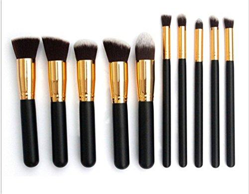 Fashion Base Set 10 Pinceaux de maquillage professionnel Ombre à paupières Multicolor