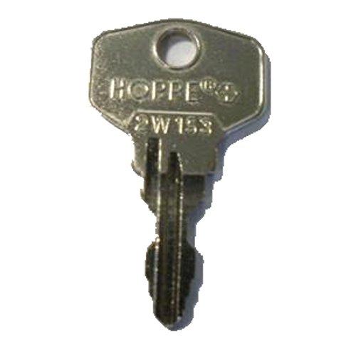 HOPPE Ersatzschlüssel - Schließung 2W1 bis 2W246 - Nachschlüssel - Zusatzschlüssel - für abschließbare HOPPE Fenstergriffe - Zusatzschlüssel, nachträglicher Schlüssel - Schließung 2W153