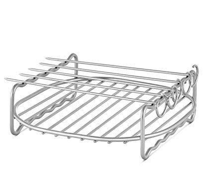Ersatz-grill-racks (F-blue Edelstahl Ersatz für HD9220 HD9232 HD9233 HD9641 HD9646 Grill Air Fryer Rack-Double-Layer-Spieße Backblech)