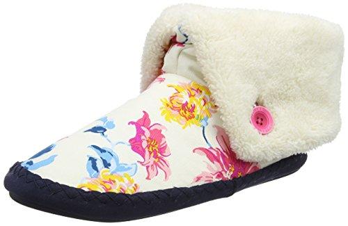 Joules Damen Potter Hohe Hausschuhe, Off-White (Cream Clematis), 38 EU (Toms-frauen-weiß Schuhe)