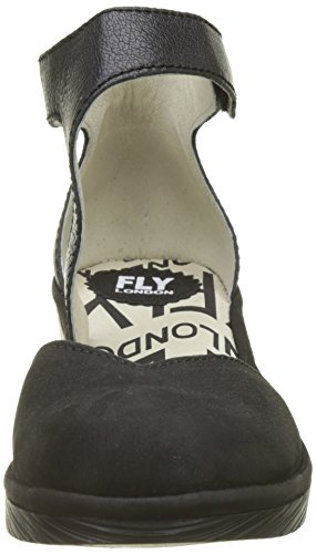 Fly London Ladies Pats801fly Strappy Pumps Nero (nero)