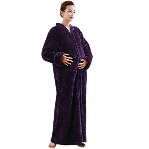 Accappatoio coppia uomo donna coperta morbida flanella vestaglia e camicia da notte adulto caldo pigiama premaman kimono vestaglia lunghe invernale in pile poncho bathrobe nightgown sleepsuit