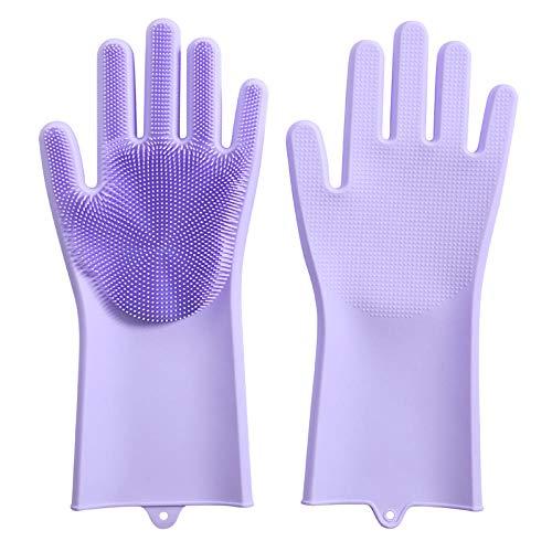Librarise Silikon-Handschuhe,Hitzebeständig Magische Handschuhe Reinigen Silikon-Spülhandschuhe Wiederverwendbare Geschirrspülhandschuhe,Gummi-Handschuh Für Die Haushalt, Abwasch,Das Auto Waschen -
