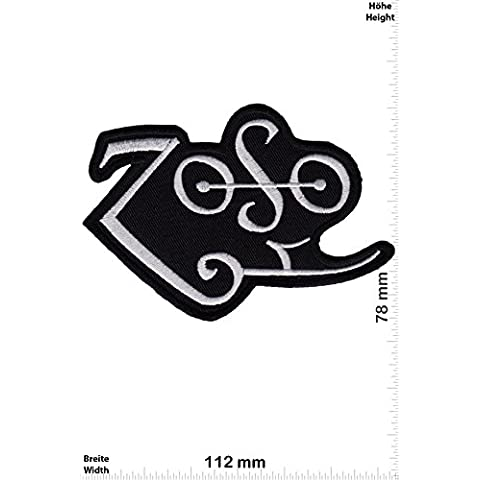 Patch - ZoSo - Led Zeppelin - silver - Musicpatch - Rock - Vest - Iron on Patch - toppa - applicazione - Ricamato termo-adesivo - Give Away