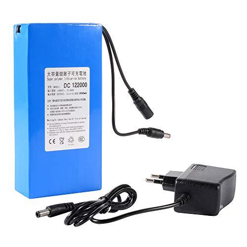 Kreema Batteria Ricaricabile agli ioni di Litio DC 12V 20000mAh Portatile Blu per Telecamera CCTV