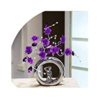 light Saber DUN vases Nordic Artificial Acrylic Crystal Flower ornaments simple fashion flowers vase for home decor wedding decor craft accessories