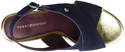 Tommy Hilfiger E1285del 6b, Sandales Bout Ouvert Femme Bleu (Tommy Navy 406)