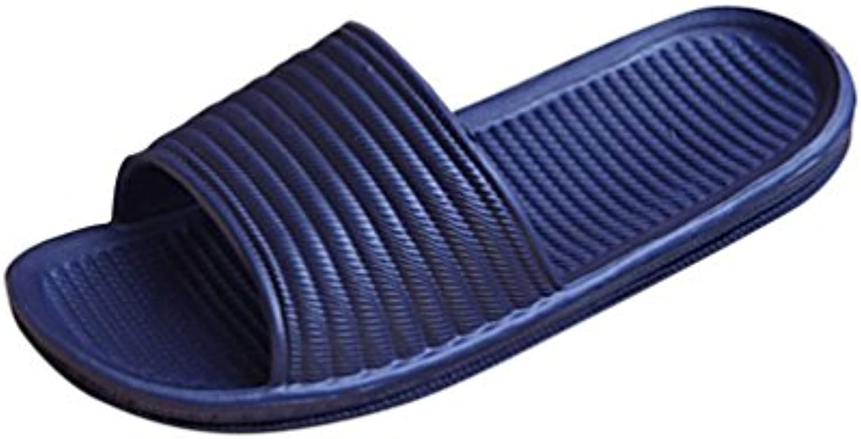 Chanclas Hombre, Manadlian Hombre zapatillas de baño plana Sandalias de verano Bajo techo en exteriores Zapatillas...
