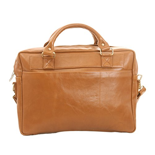 Craft Play Handicraft Tan color Leather Laptop Bag