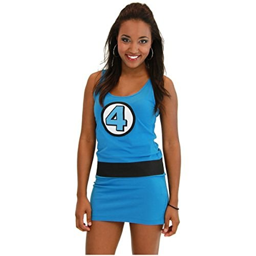 isible Mädchen blau Junior Kostüm Tunic Tank Kleid (Junior Medium) (Fantastic 4 Kostüm)