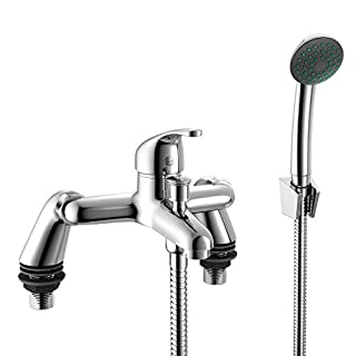 Shower Mixer Bath Filler Tap Set Bathroom Kit Sink Basin Set Tap Hose Shower Head Sink Hand Held