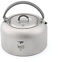 Keith Ti3901 - Tetera de titanio para picnic o senderismo (1 L, 130 g)