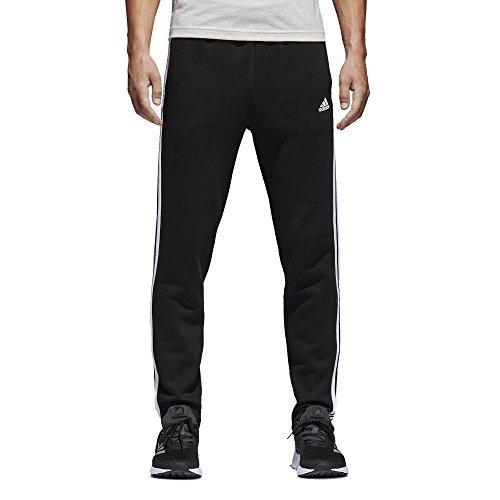 adidas Herren Essentials 3-Streifen Fleece Hose - Schwarz (Black/White) , M/S