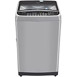 LG 6.5 kg Fully-Automatic Top Loading Washing Machine (T7577TEELJ, Middle Free Silver)