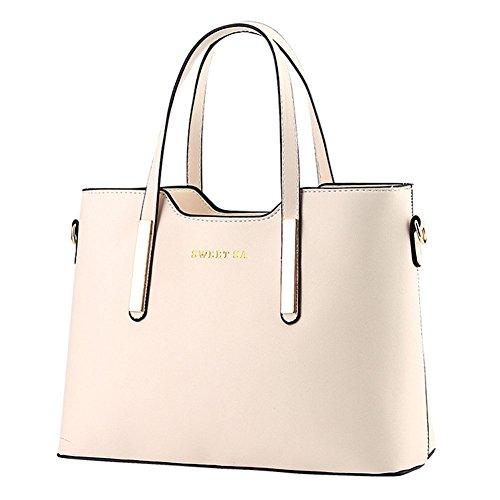 Classico borsa in PU pelle borsa a tracolla di tote di modo/borse a mano Beige