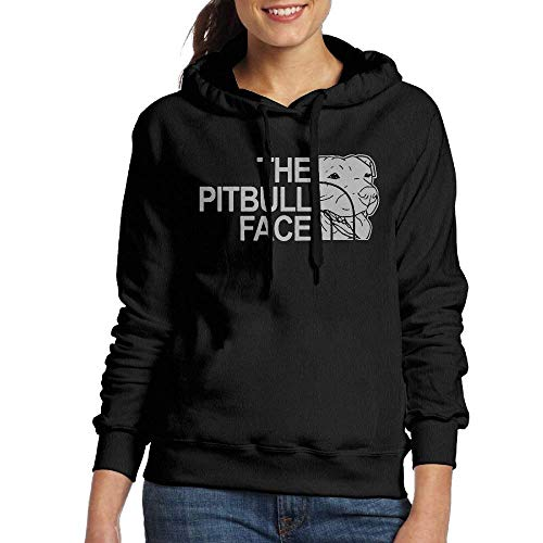 Dress rei Pitbull Face Woman Pullover Hooded Sweatshirt Hoodie Black Cable Knit Hoodie Pullover