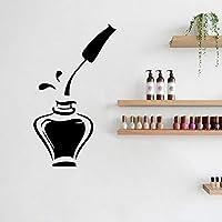 Nail Polish Beauty Manicure Salon Wall Window Vinyl Decal Sticker Nail Salon Ad Decor 54X30Cm