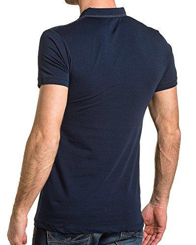 BLZ jeans - Polo Mann marineblau kariert Blau