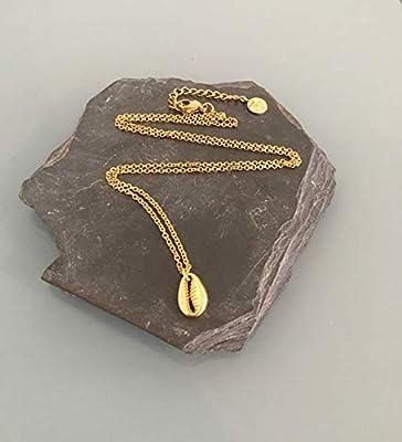 Collier coquillage plaqué or 24 k, collier doré, idée cadeau, bijou coquillage, bijoux cadeaux, bijou femme or, idée cadeau femme, bijou doré, collier or