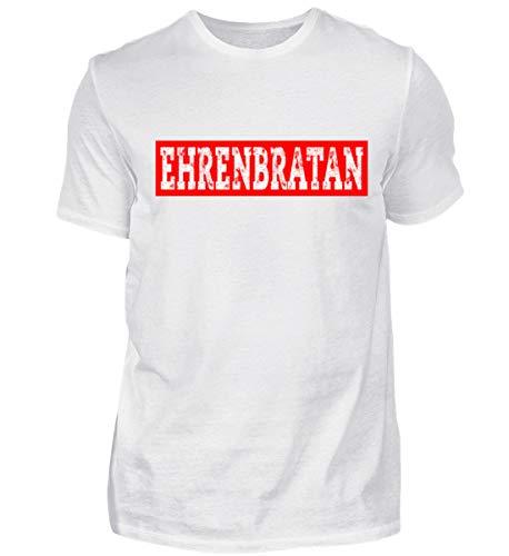 Bratan Rap Brudi Russisch Bruder Brate Geschenk - Herren Shirt -M-Weiß ()