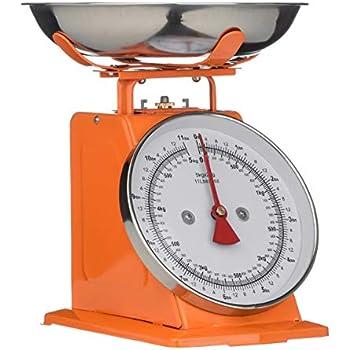 Premier Housewares 0807086 Balance de Cuisine Acier Inoxydable Orange 5 kg