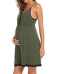 c9c21a667a05 Topgrowth Camicie da Notte Premaman Canotta Abito Casual Vestito maternità Donna  Incinte Pigiama Abiti da Notte…