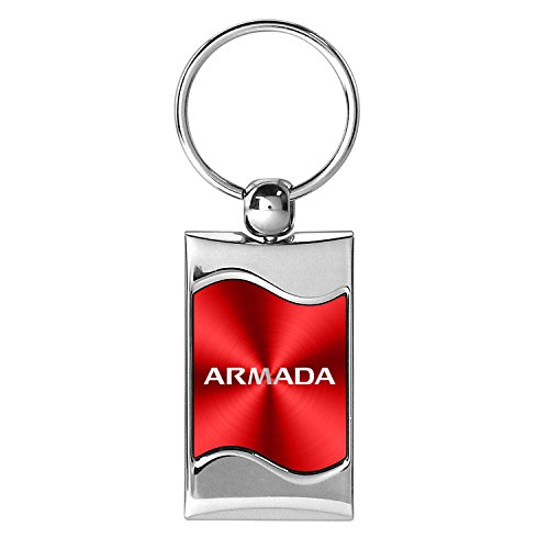 nissan-armada-red-spun-brushed-metal-key-chain