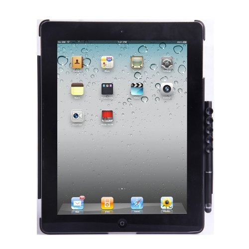 E-Stand KHE-SMARTPEN-BLK-2 Schutzhülle für iPad 2, mit Stylus-Eingabestift Blk-stand