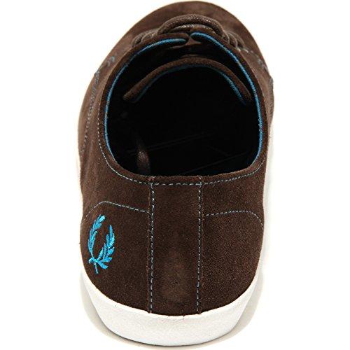 1698H sneakers uomo FRED PERRY foxx suede scarpe shoes men Marrone