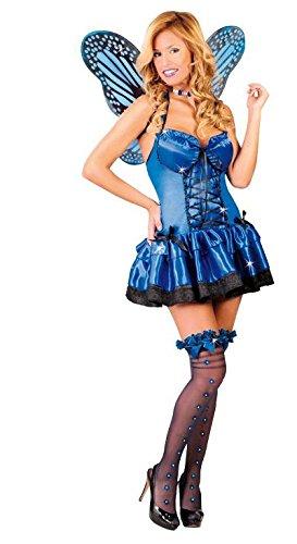 Kostüm Schmetterling Sexy - sexy Blauer Schmetterling - Kostüm für Damen Gr. M, Größe:M
