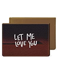 Let Me Love You Credit Card Wallet By Robobull