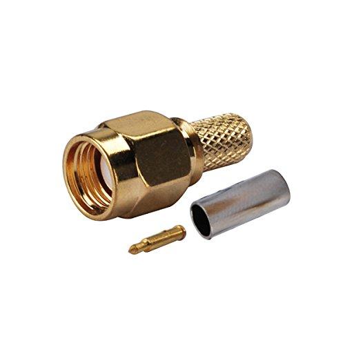 Rg58 Crimp (Eightwood SMA Stecker Stecker ST HF-Steckverbinder Crimp RG58 Kabel für Walkie-Talkie Funkantenne 10 Stücke)