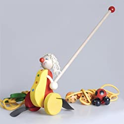 Wooden Push Toy Clown