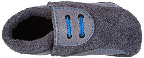 Pololo Soccer, chaussons d'intérieur mixte bébé Rouge (Grey)
