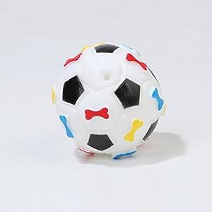 HNBGY Résistance aux morsures Football en Forme de Dents de Chien de Compagnie Nettoyage Jouet de Colle grinçant pour la Formation des Animaux de Compagnie (Blanc)
