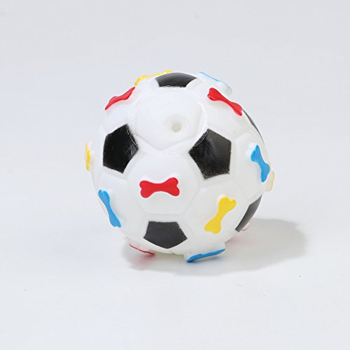 BANCN Neuheit Fußball Shaped Pet Dog Zähne Reinigung Squeaky Kleber Spielzeug für Pet Training (weiß) - Neuheit Fußball-bälle