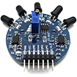 Goliton 1X module capteur de flamme 5 voies Sortie analogique numérique Robot extincteur pour arduino