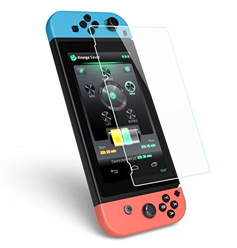 Preisvergleich Produktbild Displayschutzfolie für Nintendo Schalter, ikasus gehärtetem Glas Displayschutzfolie für Nintendo Schalter 2017, Nintendo Schalter gehärtetem Glas Displayschutzfolie HD/2.5D/0,26mm/9H Härte/Bubble frei