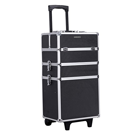 Songmics Malette Maquillage trolley 4-in-1 Aluminium boîte à maquillage Beauty Case professionnel...