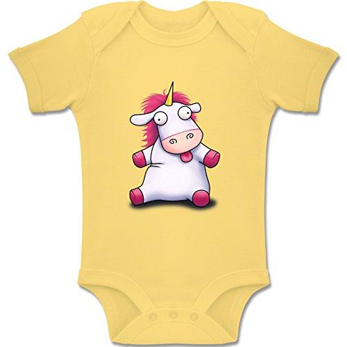 Shirtracer Up to Date Baby - Süßes, Flauschiges Einhorn - Baby Body Kurzarm Jungen Mädchen