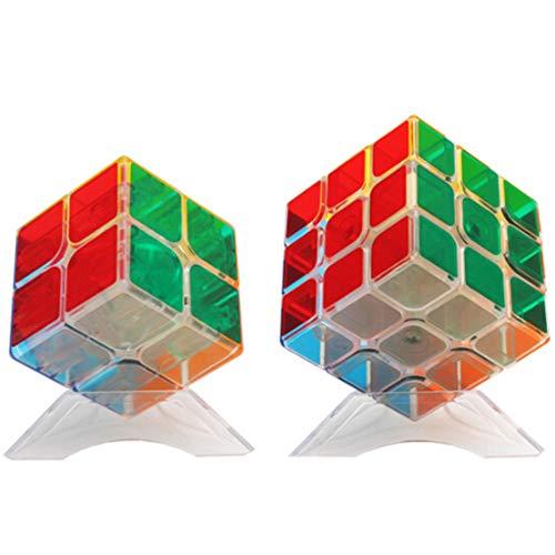 Kostüm Zauberwürfel Einfache - WXXW Transparent Zauberwürfel,Speed Cube,Magic Cube,3D Puzzles Kombinationsübungen Druckminderer Intelligenz IQ Geschenk Kind Kindergeburtstag Set,2x23x3