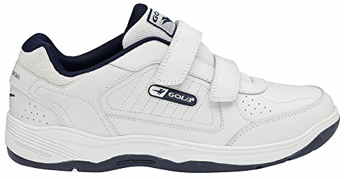 Recomendar La Venta En Línea Compras En Línea Barato En Línea Gola AMA202 Belmont Uomo Vera Pelle Scarpe Sportive Velcro Velcro Bianco fvnf6R